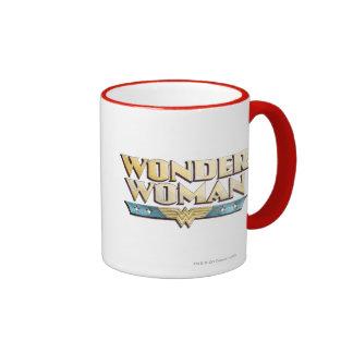 Wonder Woman Pencil Logo Coffee Mugs