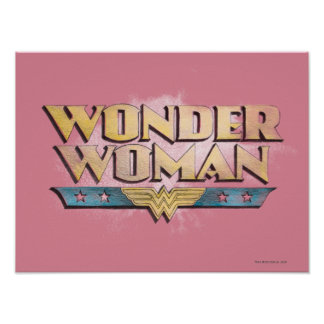 Wonder Woman Pencil Logo Poster