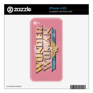 Wonder Woman Pencil Logo Decal For iPhone 4