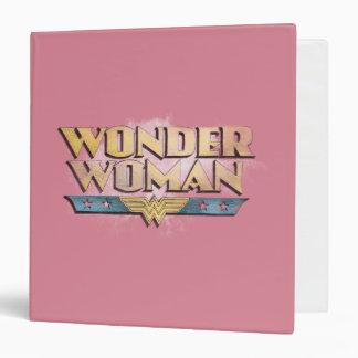 Wonder Woman Pencil Logo Vinyl Binder