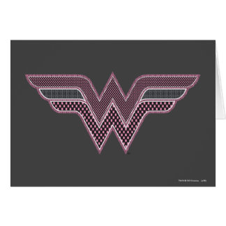 Wonder Woman Pink and Black Checker Mesh Logo Card