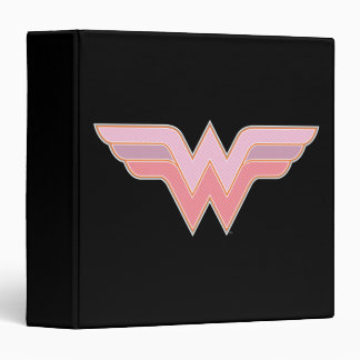 Wonder Woman Pink and Orange Mesh Logo Binder