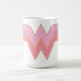 Wonder Woman Pink and Orange Mesh Logo Coffee Mug