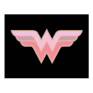 Wonder Woman Pink and Orange Mesh Logo Postcard