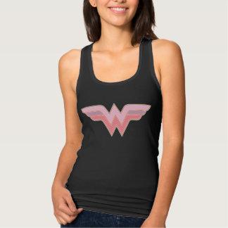 Wonder Woman Pink and Orange Mesh Logo Tank Top