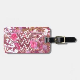 Wonder Woman Pink Camellia Flowers Logo Bag Tag