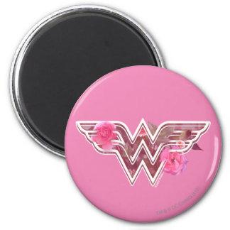 Wonder Woman Pink Camellia Flowers Logo Magnet