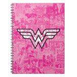 Wonder Woman Pink Comic Book Collage Logo