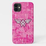 Wonder Woman Pink Comic Book Collage Logo iPhone 11 Case