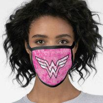 Wonder Woman Pink Comic Book Collage Logo Face Mask