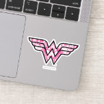 Wonder Woman Pink Comic Book Collage Logo Sticker