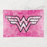 Wonder Woman Pink Comic Book Collage Logo Trinket Trays
