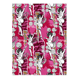 Wonder Woman Pink Pattern Postcard
