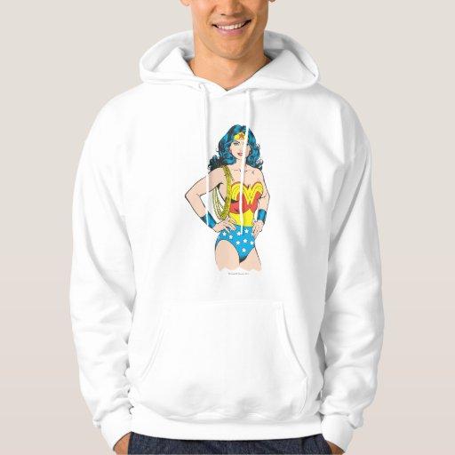 Wonder Woman Portrait Hooded Sweatshirts