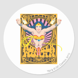 Wonder Woman Poster Classic Round Sticker