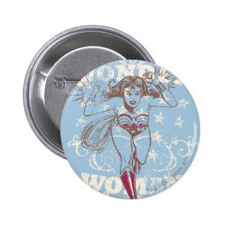 Wonder Woman Pow Pinback Button