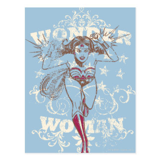 Wonder Woman Pow Postcard