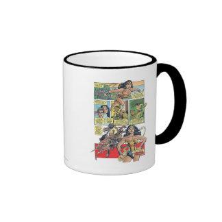 Wonder Woman Princess Diana Ringer Coffee Mug