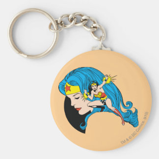 Wonder Woman Profile Background Keychain