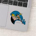 Wonder Woman Profile Background Sticker