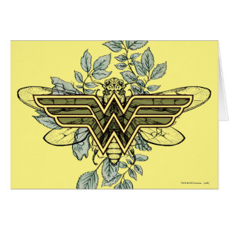 Wonder Woman Queen Bee Logo Card
