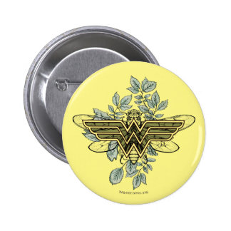Wonder Woman Queen Bee Logo Pinback Button