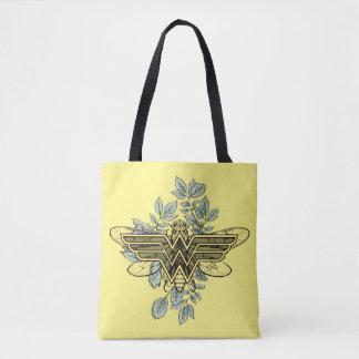Wonder Woman Queen Bee Logo Tote Bag