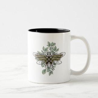 Wonder Woman Queen Bee Logo Two-Tone Coffee Mug