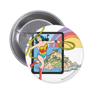 Wonder Woman Rainbow Button