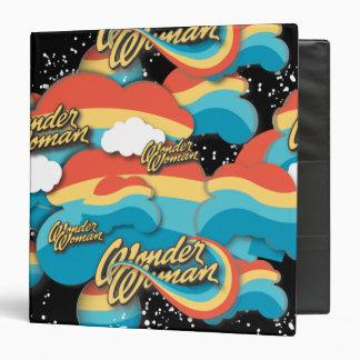 Wonder Woman Rainbow Clouds 1 Vinyl Binders