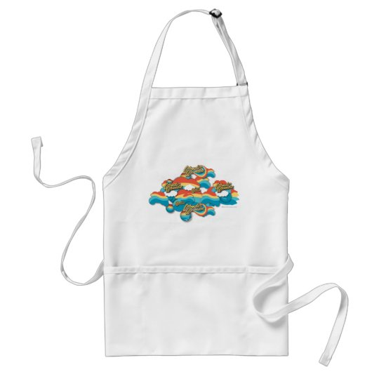 Wonder Woman Rainbow Clouds Pattern Adult Apron