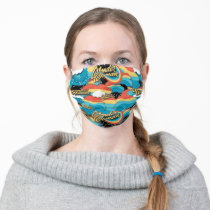 Wonder Woman Rainbow Clouds Pattern Adult Cloth Face Mask