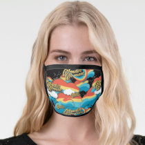 Wonder Woman Rainbow Clouds Pattern Face Mask