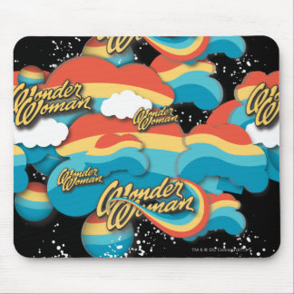 Wonder Woman Rainbow Clouds Pattern Mouse Pad