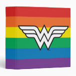 Wonder Woman Rainbow Logo 3 Ring Binder