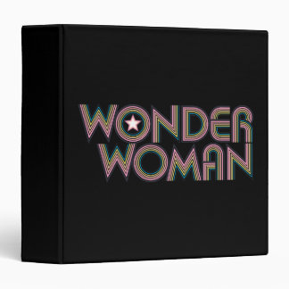Wonder Woman Rainbow Logo 3 Ring Binder