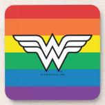 Wonder Woman Rainbow Logo Beverage Coaster
