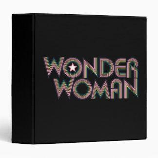 Wonder Woman Rainbow Logo Binder