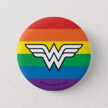 Wonder Woman Rainbow Logo Button