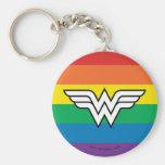 Wonder Woman Rainbow Logo Keychain