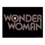Wonder Woman Rainbow Logo Postcards