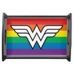 Wonder Woman Rainbow Logo Serving Tray