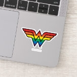 Wonder Woman Rainbow Logo Sticker