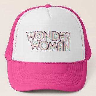 Wonder Woman Rainbow Logo Trucker Hat