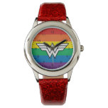 Wonder Woman Rainbow Logo Watch