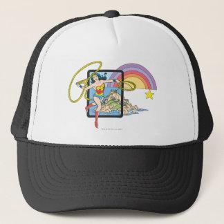Wonder Woman Rainbow Trucker Hat