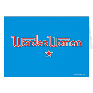 Wonder Woman Red and Blue Star Logo Card