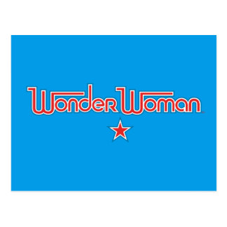 Wonder Woman Red and Blue Star Logo Postcard