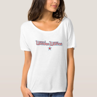 Wonder Woman Red and Blue Star Logo T-Shirt