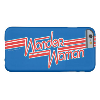 Wonder Woman Red and Blue Stripe Logo Barely There iPhone 6 Case